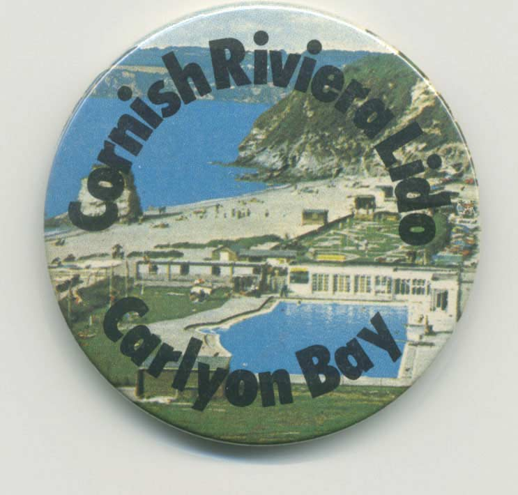 Cornish Riviera Lido souvenir badge